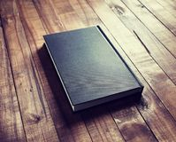 Book on wood table Royalty Free Stock Photo