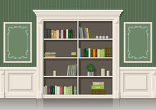 Book wooden cabinet Stock Images