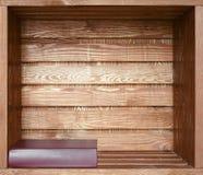 Book on wooden shelf Stock Photos