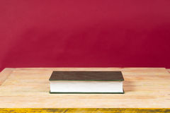 Book on wooden table. Back to school. Copy space. Top view Stock Photography