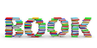 BOOK word from books. 3D illustration Royalty Free Stock Image