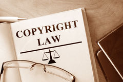 Book with words Copyright Law. Royalty Free Stock Image