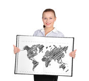 Book with world map Stock Image