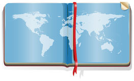 Book with world map Stock Photos