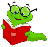 Book worm. Illustration of a book worm Royalty Free Stock Images