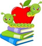 Book worm cartoon Stock Images