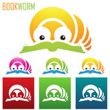 Book worm icons Stock Photography