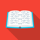 Book written in braille icon in flat style isolated on white background. Interpreter and translator symbol stock vector Stock Images