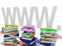Book and WWW Stock Photo