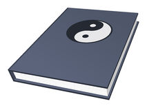 Book with Ying-Yang symbol Royalty Free Stock Images