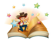 A book with a young cowboy Stock Image