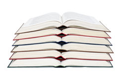 Book1. Six colored books each other, white background isolate royalty free stock image