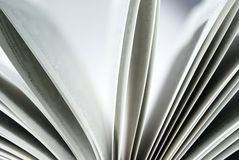 Book2. Book pages closeup on a white background royalty free stock photos