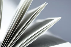 Book3. Closeup of book pages on a white background royalty free stock image