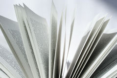 Book6. Closeup of book pages on a white background royalty free stock photos