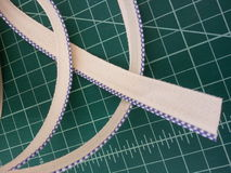 Bookbinding Headband. Vintage cotton headband for book arts Stock Photography