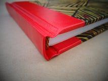 Bookbinding notebook stock image