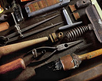 Bookbinding Tools Royalty Free Stock Photography