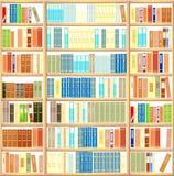 Bookcase вполне книг Стоковые Изображения RF