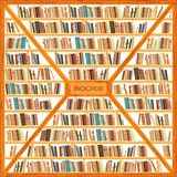 Bookcase вполне книг Стоковая Фотография RF