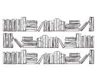 bookcase записывает серии Стоковое фото RF