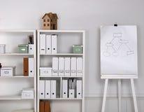 Bookcase с скоросшивателями Стоковые Фото