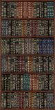Bookcase. Wooden bookcase full of books Stock Image