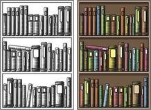 Bookcase royalty free illustration