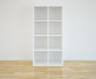 Bookcase. 3d rendering of an empty bookshelf Stock Images