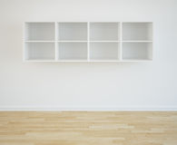 Bookcase. 3d rendering of an empty bookshelf Royalty Free Stock Photography