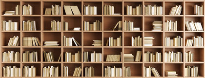 Bookcase stock illustration