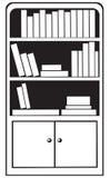 bookcase Obrazy Stock