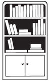 bookcase Imagens de Stock