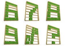 Bookcase alphabet Stock Photo