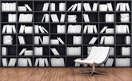 Bookcase with armchair Stock Photo