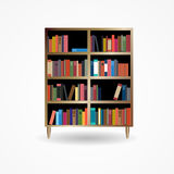 Bookcase with Books Icon Vector Illustration Royalty Free Stock Photography