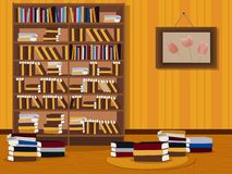 A bookcase with books. library. Vector illustration stock illustration