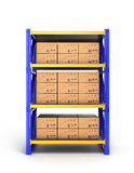 Bookcase with drawers Royalty Free Stock Photos