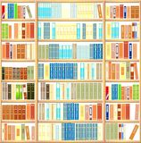 Bookcase full of books Royalty Free Stock Images