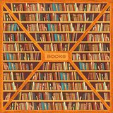 Bookcase full of books Stock Image