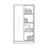 Bookcase home furniture lineart design, interior concept Royalty Free Stock Image