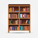 Bookcase ikony wektoru ilustracja Obrazy Royalty Free