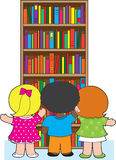 Bookcase Kids Stock Image