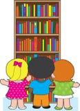 Bookcase Kids Stock Image