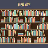 Bookcase In Library Stock Photography
