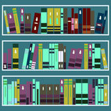Bookcase In Library Royalty Free Stock Image