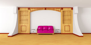 Bookcase in modern interio Royalty Free Stock Image
