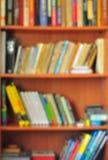 Bookcase (Soft focus). Stock Image