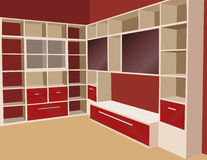 Bookcase vector Royalty Free Stock Images