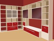 Bookcase vector